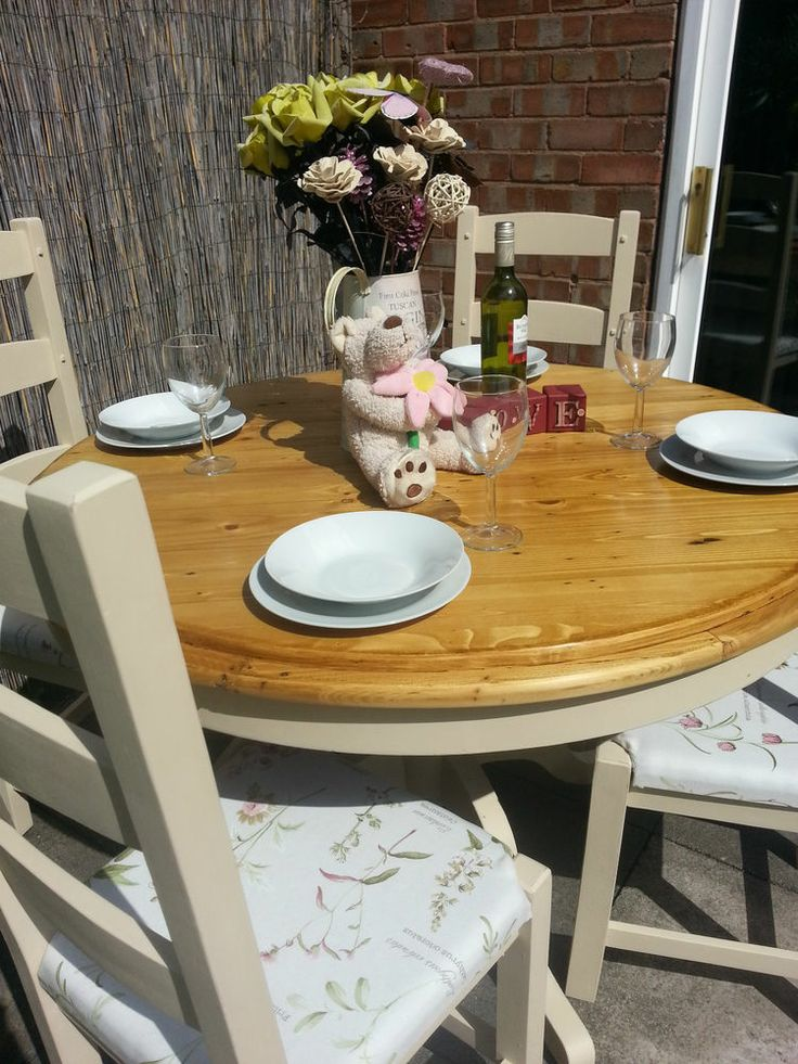 Shabby Chic Rustic Farmhouse Pine Table Reclaimed Planked top and Oak Chairs   Painted with Annie Sloan chalk paint in the  Old Ochre  shade 117 best Chic Boutique furniture images on Pinterest   Leicester  . Old Dining Chairs Leicester. Home Design Ideas