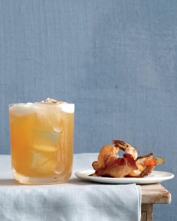 Maple-Bourbon Cider: Bourbon, lemon juice, maple syrup, cider, cayenne pepper