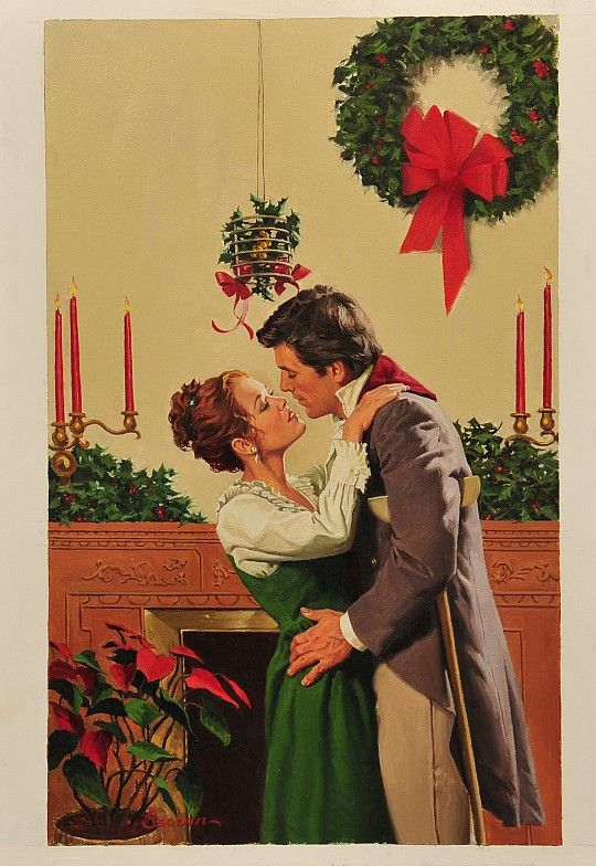 """'""""The Christmas Gift""""' by Robert Berran : Original Oil on Canvas"""