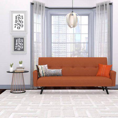 Melbourne Click Clack Futon Sofa Bed, Multiple Colors, Orange