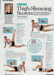 Thigh slimming secrets, along with other cosmo workouts. =)