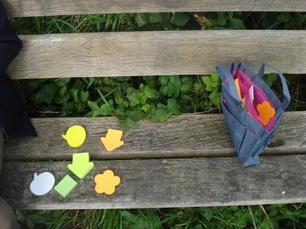 Fijne materialen voor deelnemers aan het JA-plan. Welke richting wil je op (groene pijl) Wat zeggen ze over je (geel praatballlonetje) waar word je blij van / fleur jij van op? (paarse bloem)