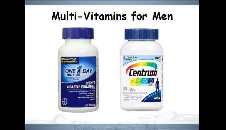 One A Day® Men's Health Formula vs Centrum® Men