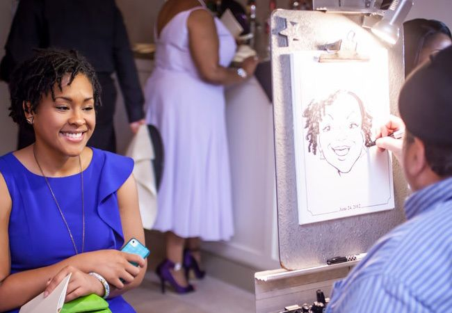Make your cocktail hour more fun.  Caricature Artist