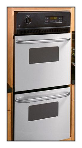 """GE - Built-In 24"""" Double Electric Wall Oven - Silver"""