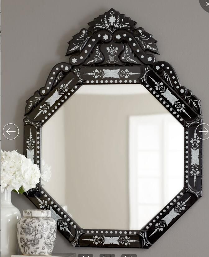 Black/Silver Venetian Mirror Home Decor Wall Hanging ...
