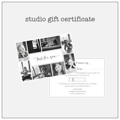 ... gift certificate | Photoshop Tools & Templates for Photographe