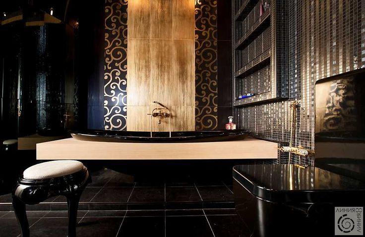 Деко черный и золото | Дизайн интерьера. Квартира на улице ...