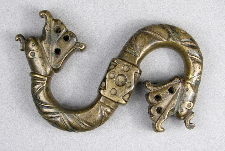 "Anahita Gallery.Large Bronze Hook, Afghanistan, 14th/15th Century, 4.8"" x 3.25 POR"