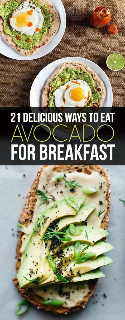 21 Delicious Ways To Eat Avocado For Breakfast: sign me up! I would make any of these for dinner too!