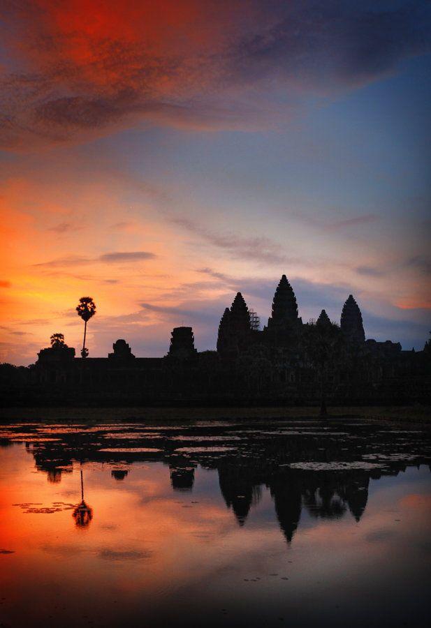 """ღღ  Amazing shot!!! """"Morning in Angkor Wat"""", Cambodia by woosra"""