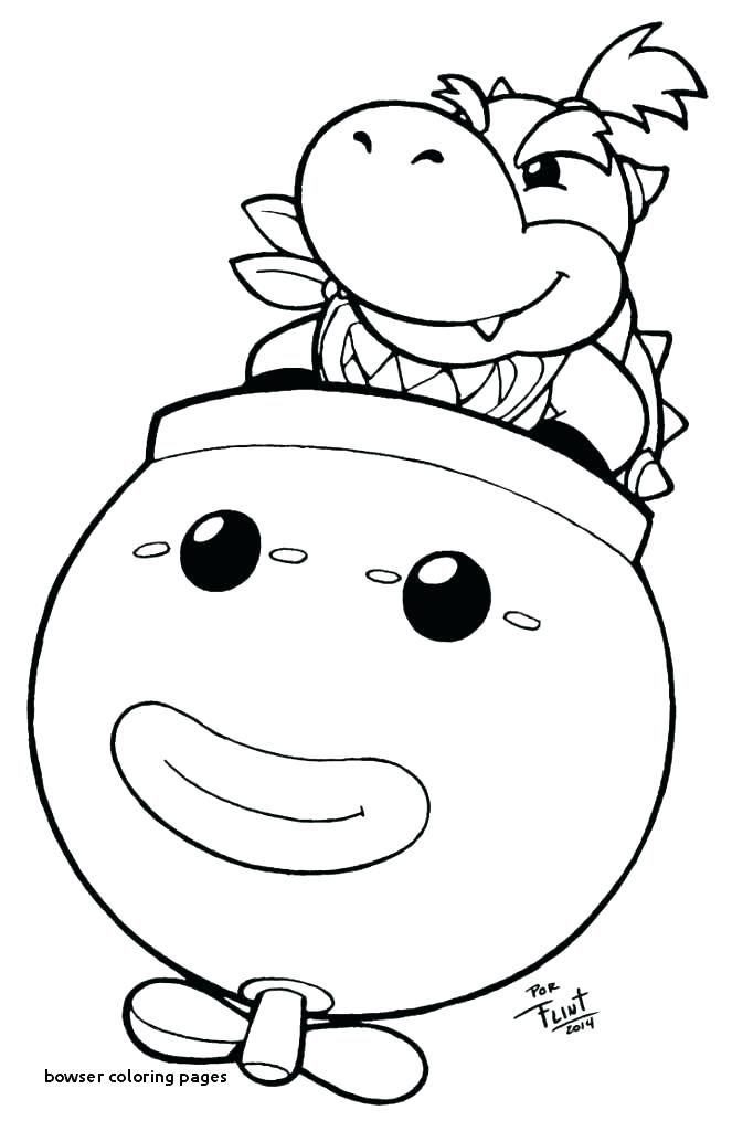 Bowser Coloring Pages Super Mario Bowser Coloring Pages Free
