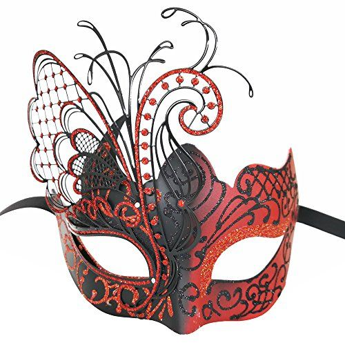 Red/Black Butterfly Venetian Women Mask For Masquerade / Party / Ball Prom / Mardi Gras / Wedding / Wall Decoration #Red/Black #Butterfly #Venetian #Women #Mask #Masquerade #Party #Ball #Prom #Mardi #Gras #Wedding #Wall #Decoration