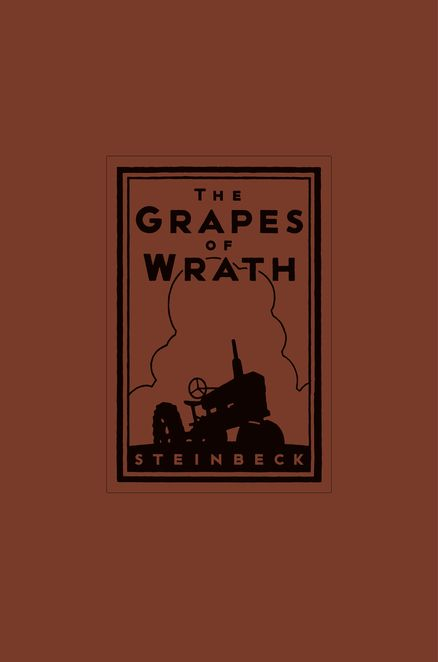 THE GRAPES OF WRATH 75th ANNIVERSARY EDITION (LIMITED EDITION) by John Steinbeck -- It features color endpapers and a leather case with black foil stamping specially designed by Michael Schwab, as well as a gilded top and a California Poppy-orange ribbon.