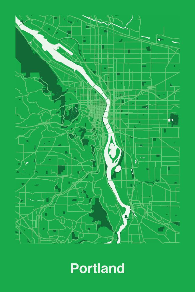 Portland USA map print by R