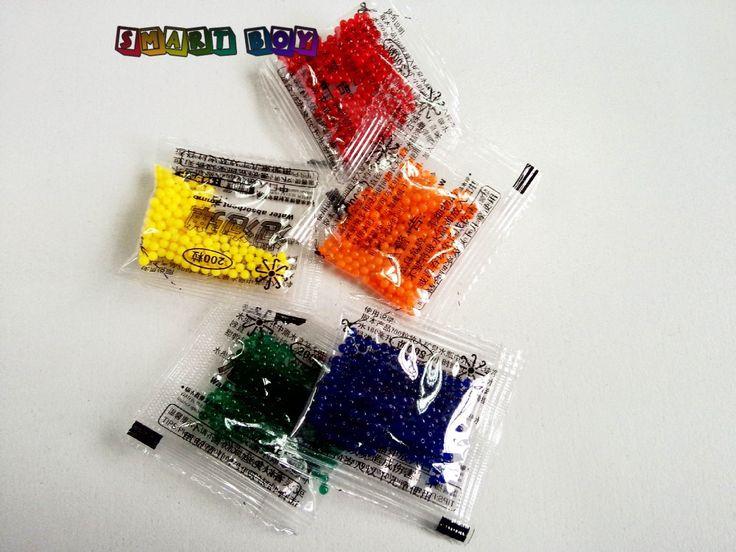 5pack/lot  200pcs Small pack Paintball Bullet  For Orbeez Gun Nerf Gun 10-11mm Soft Crystal Bullet  ToyGun for boy & girl Kid