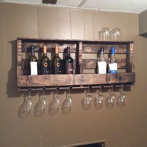 How to Make a Pallet Wine Rack. Pallet Wall DecorPallet ...