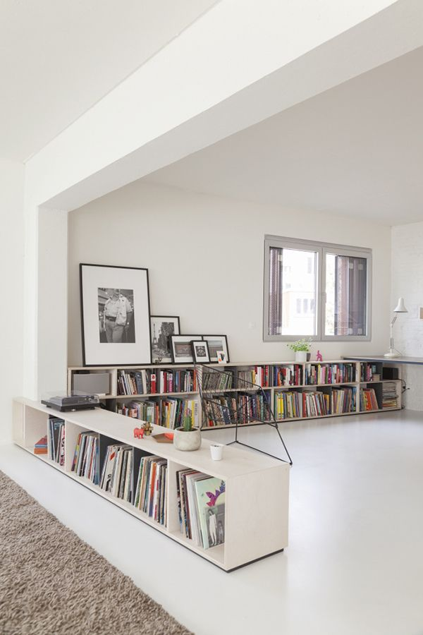 B L O O D A N D C H A M P A G N E » INSPIRATION #447 Love the low room divider/record storage