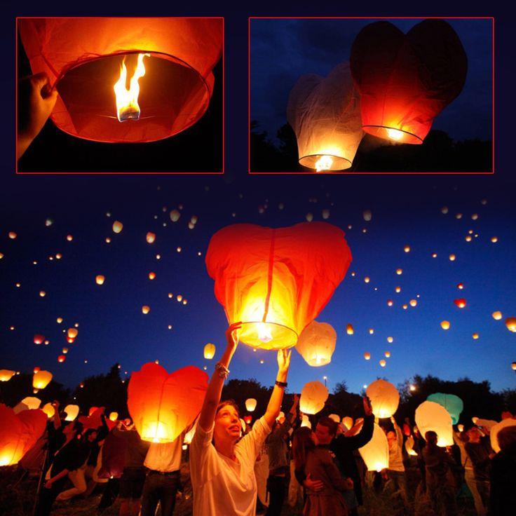 Kalp Şeklinde Dilek Feneri 3 Adet ::