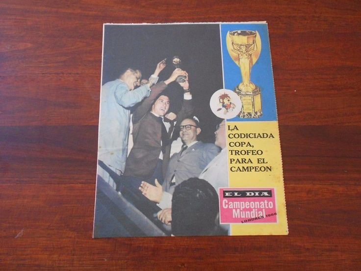 ENGLAND 66 FIFA Soccer World Cup Uruguay newspaper ENGLAND CHAMPION #2  | eBay