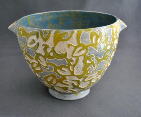 Shade Patterns  OOAK hand made sgraffito stoneware