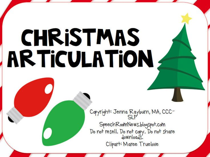 Christmas Articulation: Speech Therapy Card Games...$4