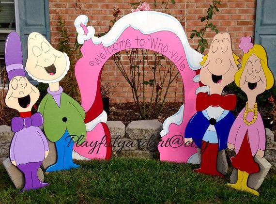 grinch yard art whoville christmas yard art by PlayfulYardArt
