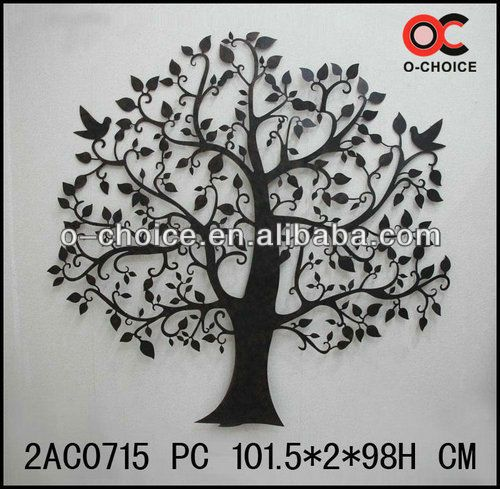 ma 0715 many branch tree metal wall art decor - Metal Tree Wall Decor