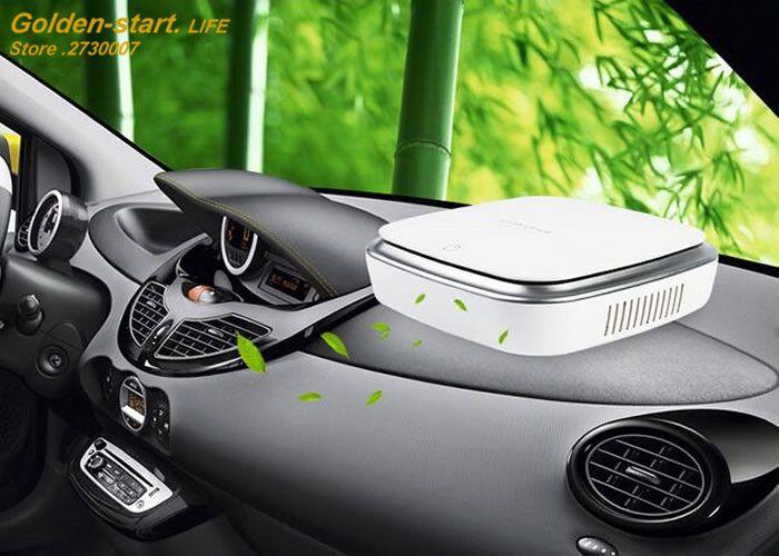 Car Air Purifier Solar Anion Humidifier Ionizer Car Air Freshener Oxygen Bar
