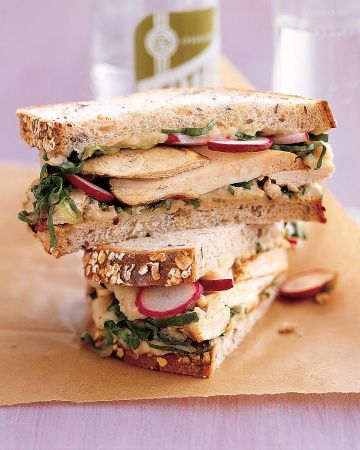 Grilled Chicken and Escarole Sandwich with White-Bean Spread ...