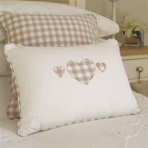 Gingham heart cushion