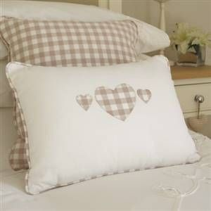 Gingham heart cushion
