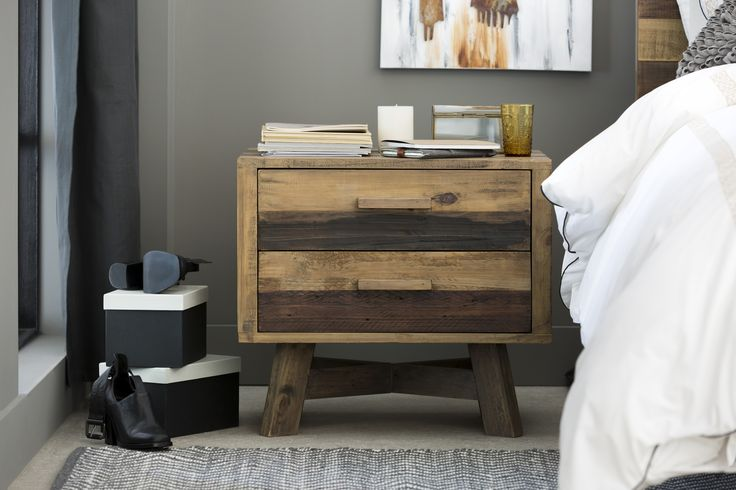 Industrial Modern: Brighton bedside table. (Available mid- to end-October)