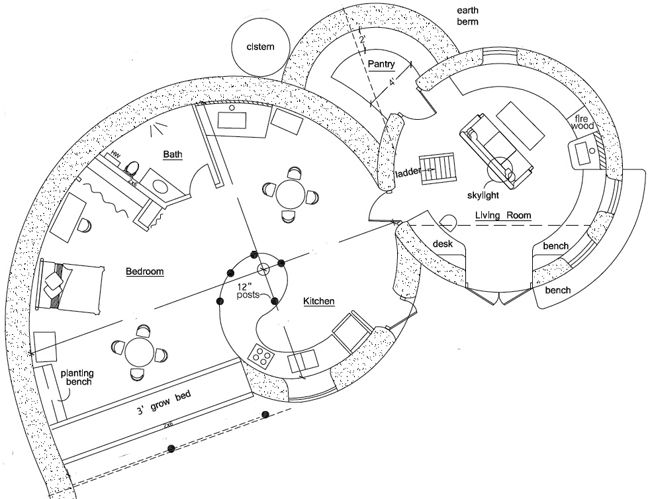 Dome floor plans floor plan for spiral dome magic 1 for Earth home floor plans