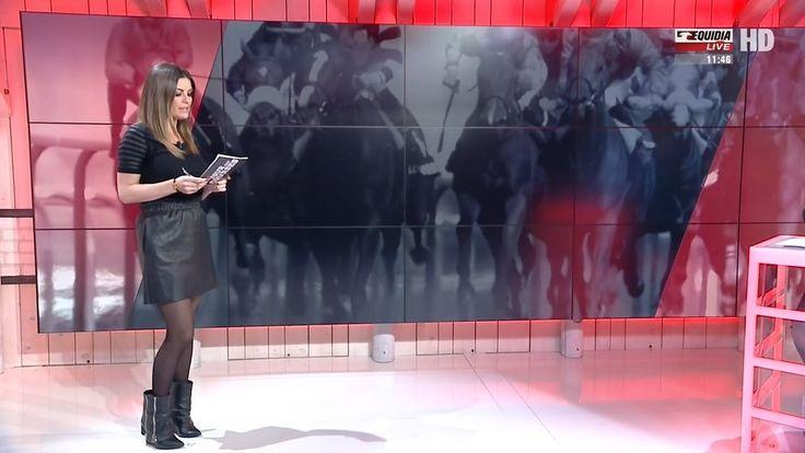 Amelie Bitoun French Presenter Leather Skirt 8.3.2017