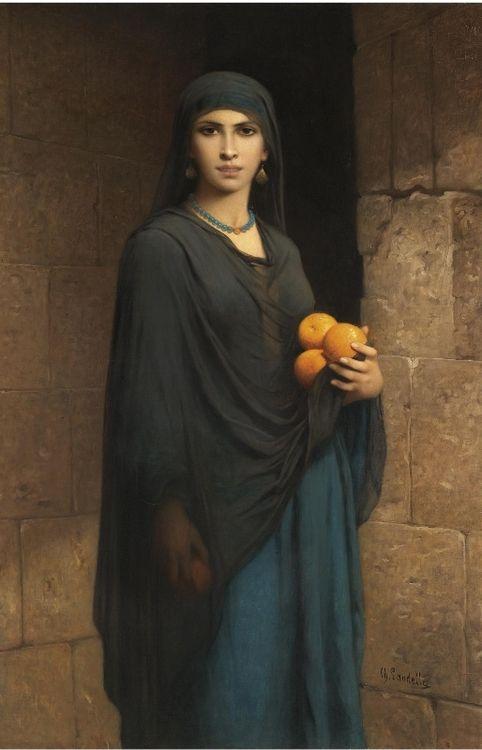 Woman with Oranges - Charles Landelle