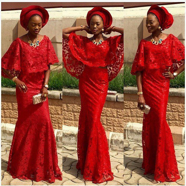 Latest Aso Ebi Styles Lace Inspired. | Amillionstyles.com