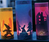 Love these shadow theatre style paper lanterns