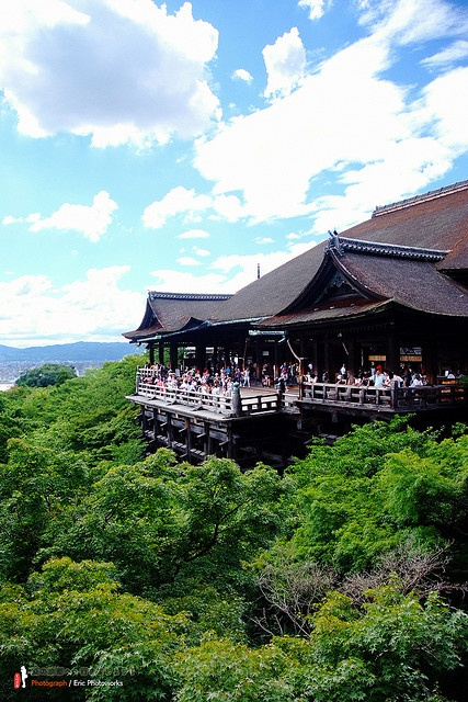 Kiyomizu Temple in Kyoto, Japan. The walk up the hill has many neat shops.