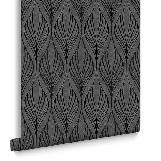 Optimum Black and Silver Wallpaper   Graham & Brown