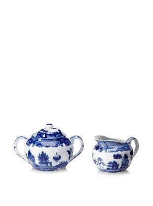 48% OFF Blue Willow Sugar & Creamer Set