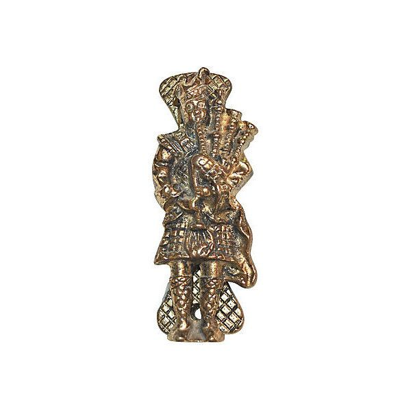 Pre-Owned Scottish Bagpipe Player Door Knocker (€110) ❤ liked on Polyvore featuring home, home decor, decorative hardware and gold