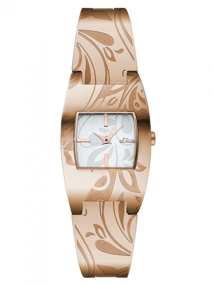 s.Oliver Damen Uhr SO-2924-MQ Damenuhr Edelstahl rosé ladie´s watch 3 ATM
