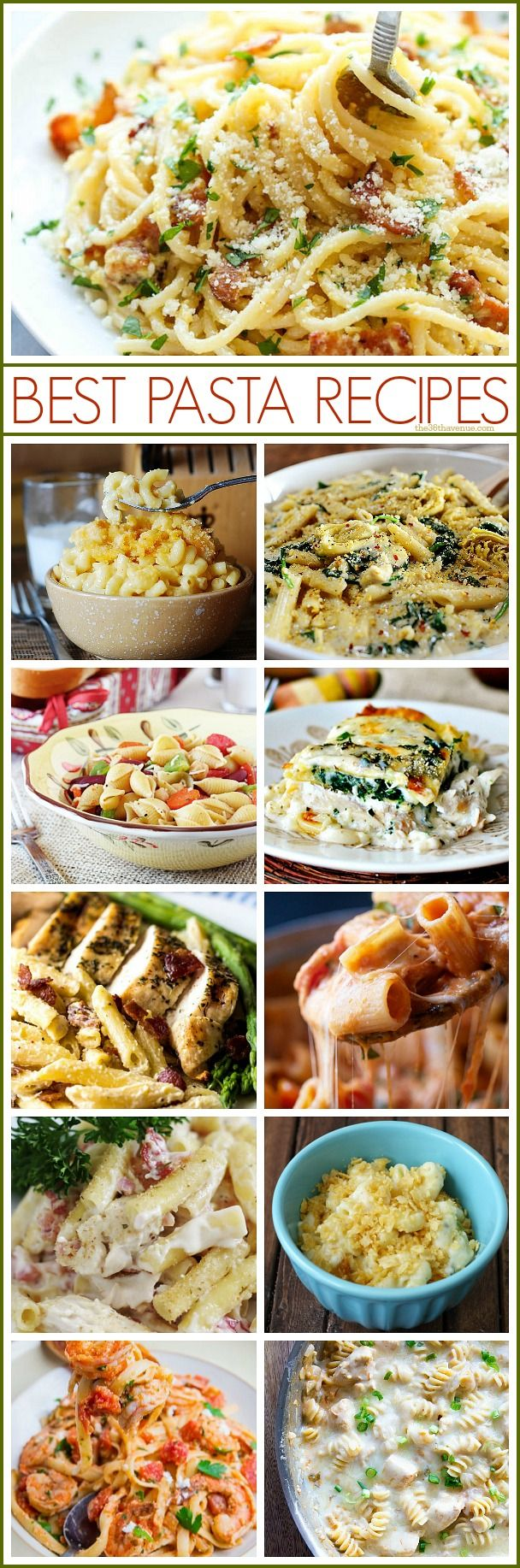 Best Pasta Recipes at the36thavenue.com So delicious! #pasta