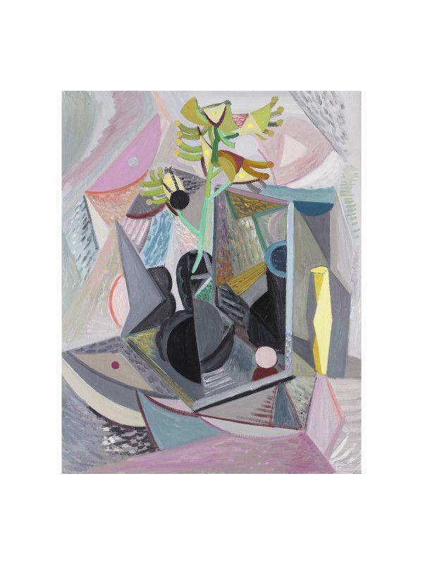 'Black Vase, Kangaroo Paw' by Yvette Coppermith, oil on linen, 61 x 51cm, 2015.