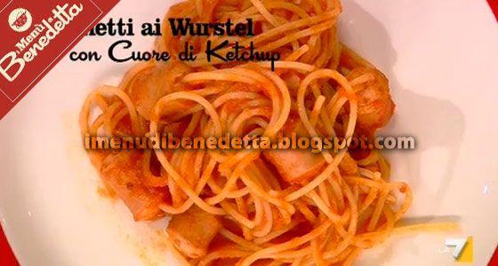 Spaghetti con Wurstel e Ketchup di Benedetta Parodi