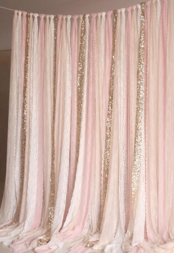 light pink white Lace, Sparkle fabric photobooth backdrop Wedding ceremony stage,birthday,baby shower party curtain backdrop nursery