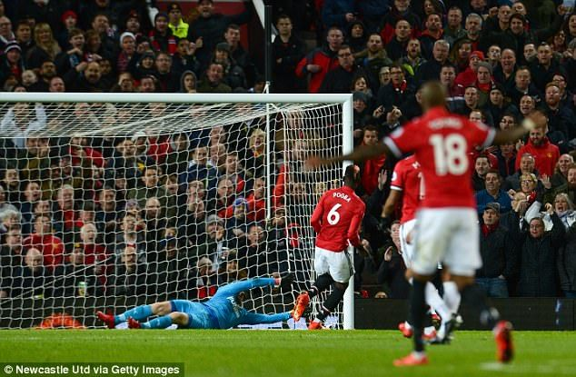 Pogba netted United's third goal in a comeback 4-1 victory over Newcastle United on Saturday