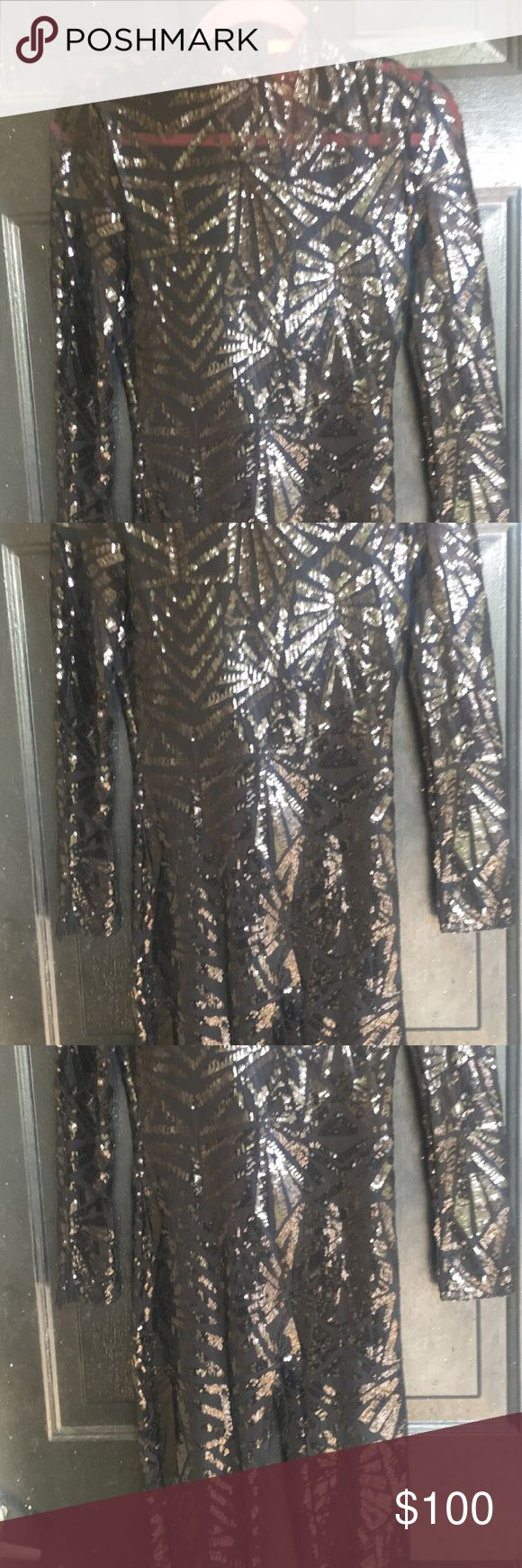 Black Sequin Sheer Catsuit BRAND NEW !! Never worn : Black Catsuit with sequins Pants Jumpsuits & Rompers