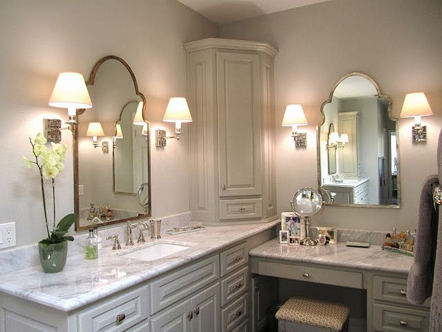 Double Sink Bathroom Design. Great Bathroom Design with Double sinks! #bathroom